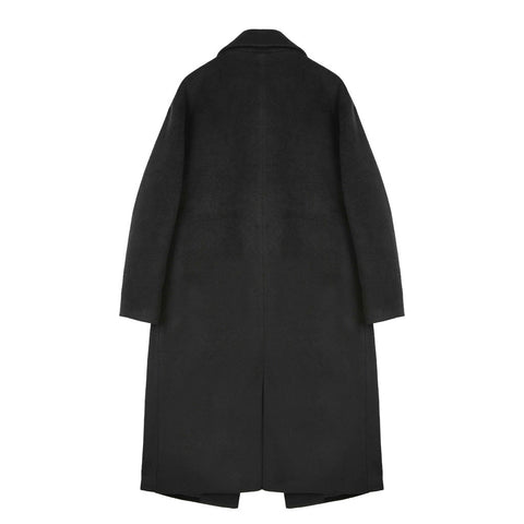Long Silhouette Coat - Indigo
