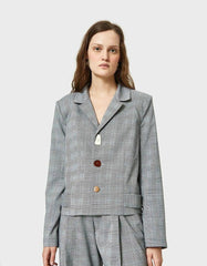 NEED SUPPLY Gray Blazer - Indigo