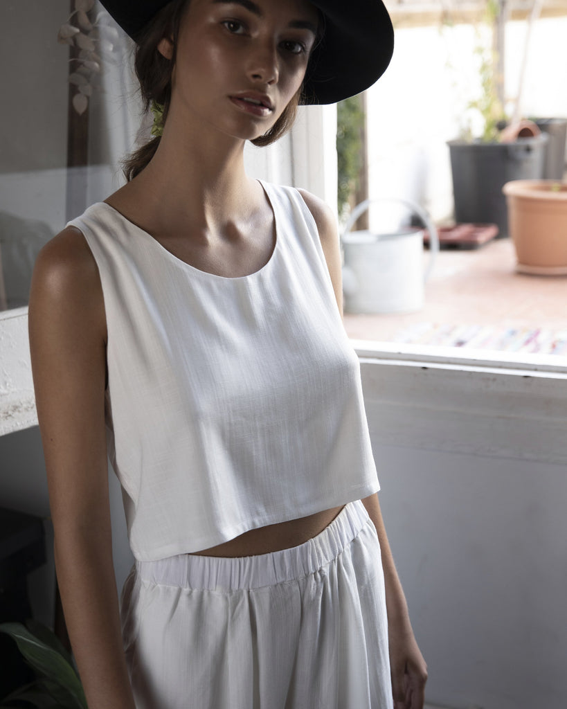 Elisa top | White - Plhi studio