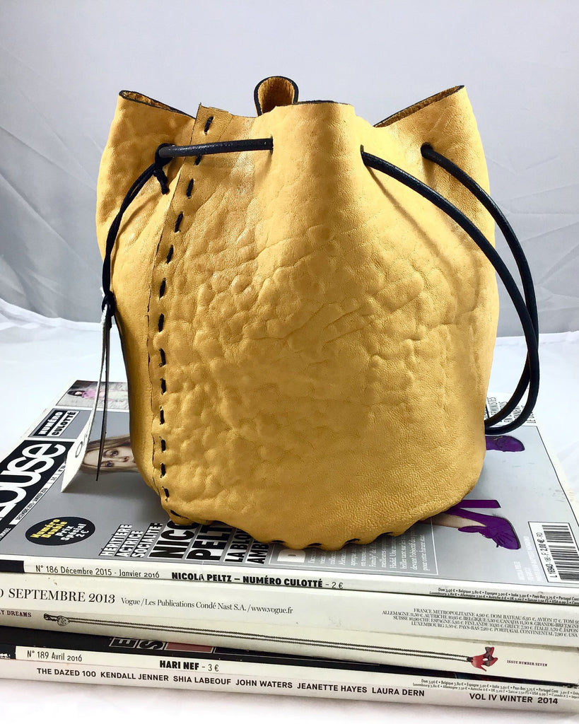 Luli mini bucket bag. Yellow. - Plhi studio