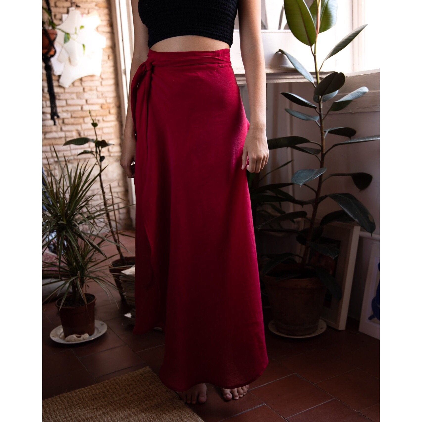 Catalina Wrap long skirt. - Plhi studio