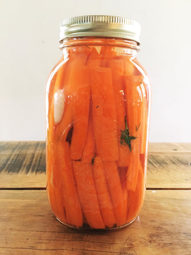 Lacto Fermented Garlic and Dill Carrot Sticks
