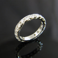 Handmade Diamond Engrave Wedding Band