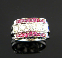 Custom Made Ruby and Diamond Anniversary Ring
