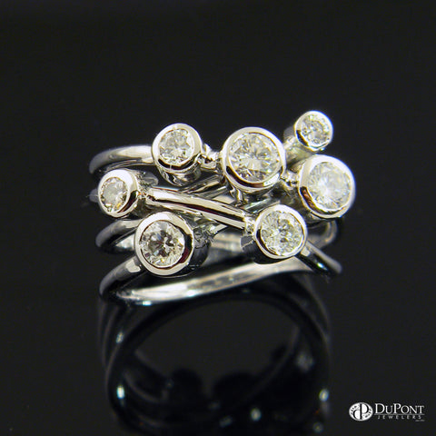 Bezel Set Wire Freeform Ring