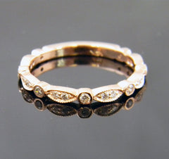 Rose Gold Weding Band