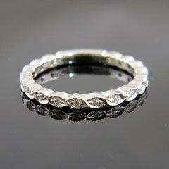 Engrave Marquise Style Diamond Wedding Band