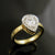 14k Yellow Gold Pear Shaped Engagement Ring