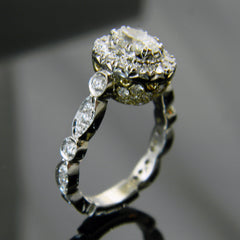 Oval Halo Engagement Ring with Pave' (Center sold Separately)