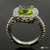 Peridot Diamond Ring Handmade