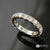 14K White Gold Handmade Diamond Cut Wedding Band