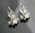 Antique Style Scrole Diamond White Gold Earrings
