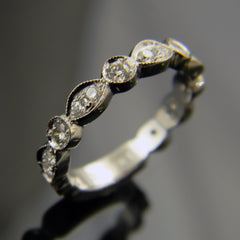 14k White Gold Handmade Wedding Ring