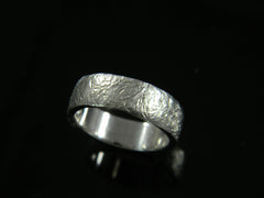 Distressed Wedding Band Continuum Silver