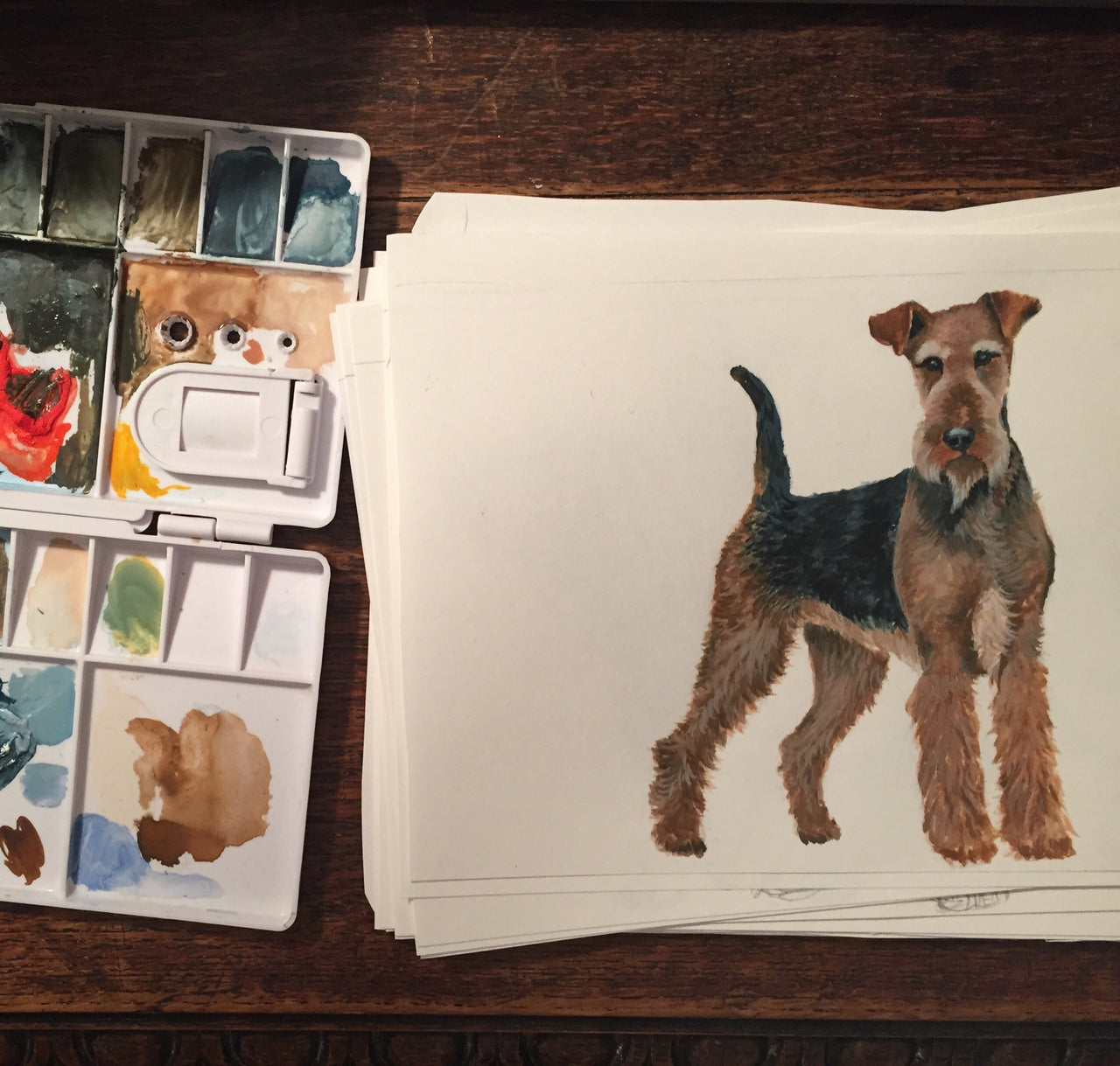 Airedale - Dog Pet Illustration