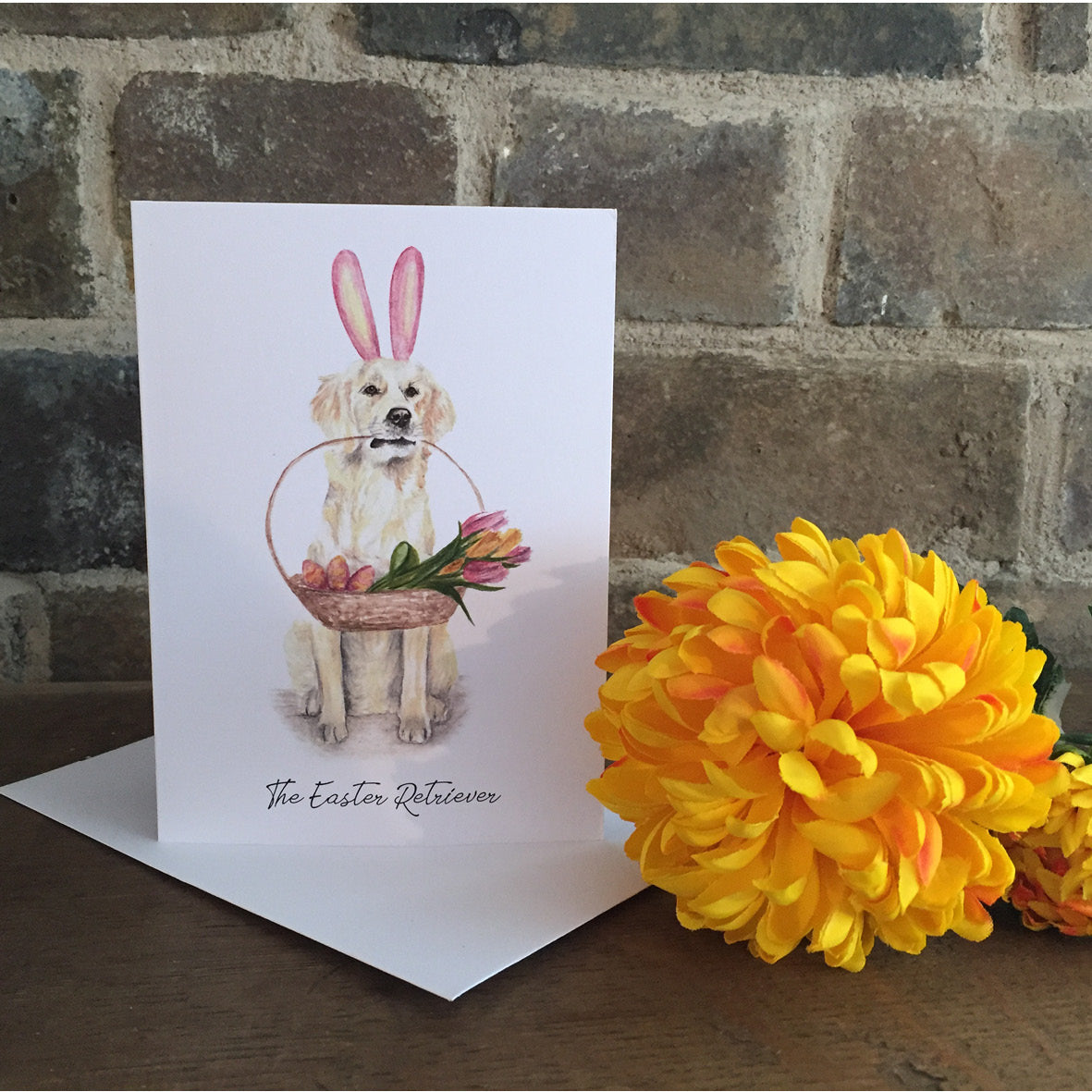 The Easter Retriever Greeting Card - Easter Card