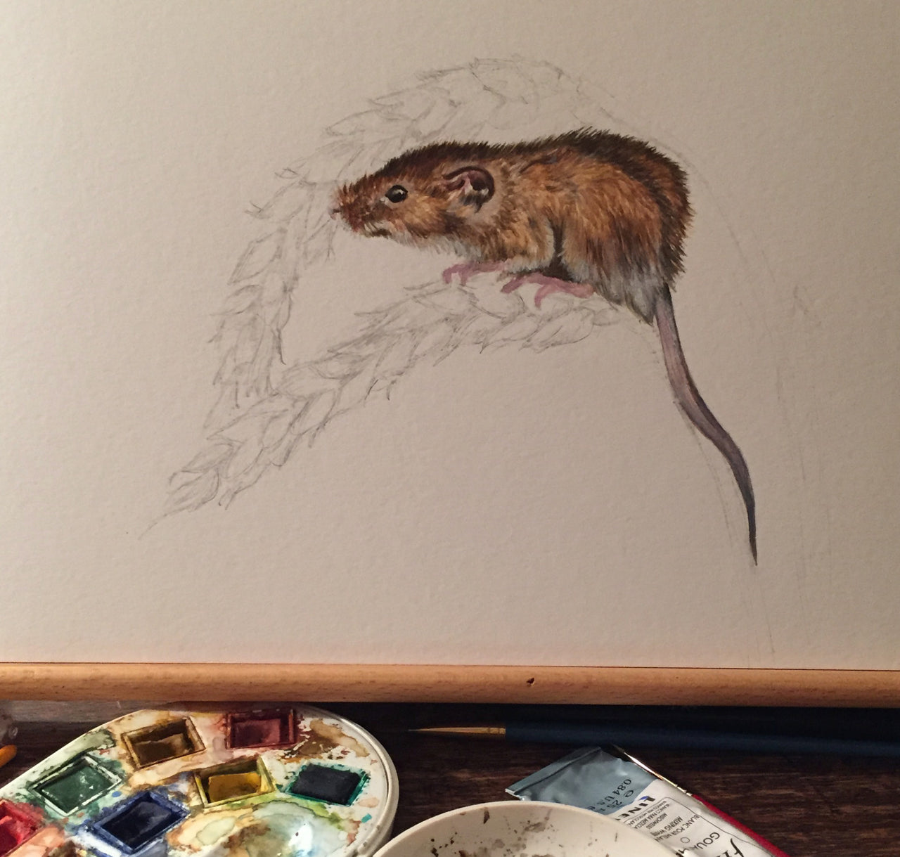 Mouse - Wildlife Painting