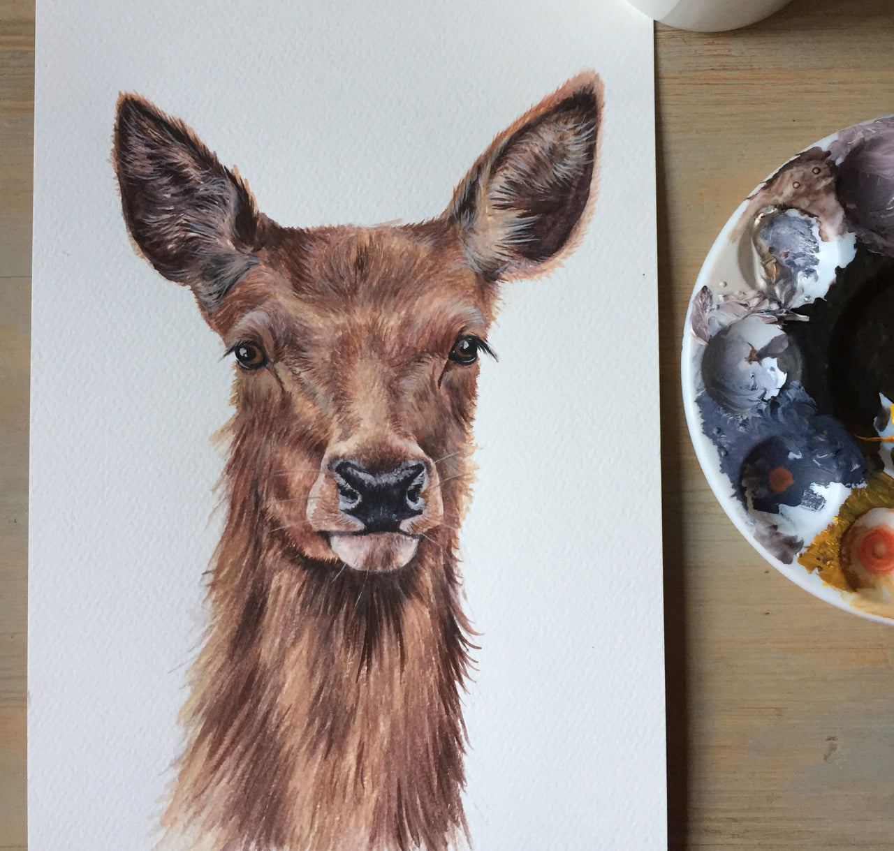 Red Deer - Wildlife Painting