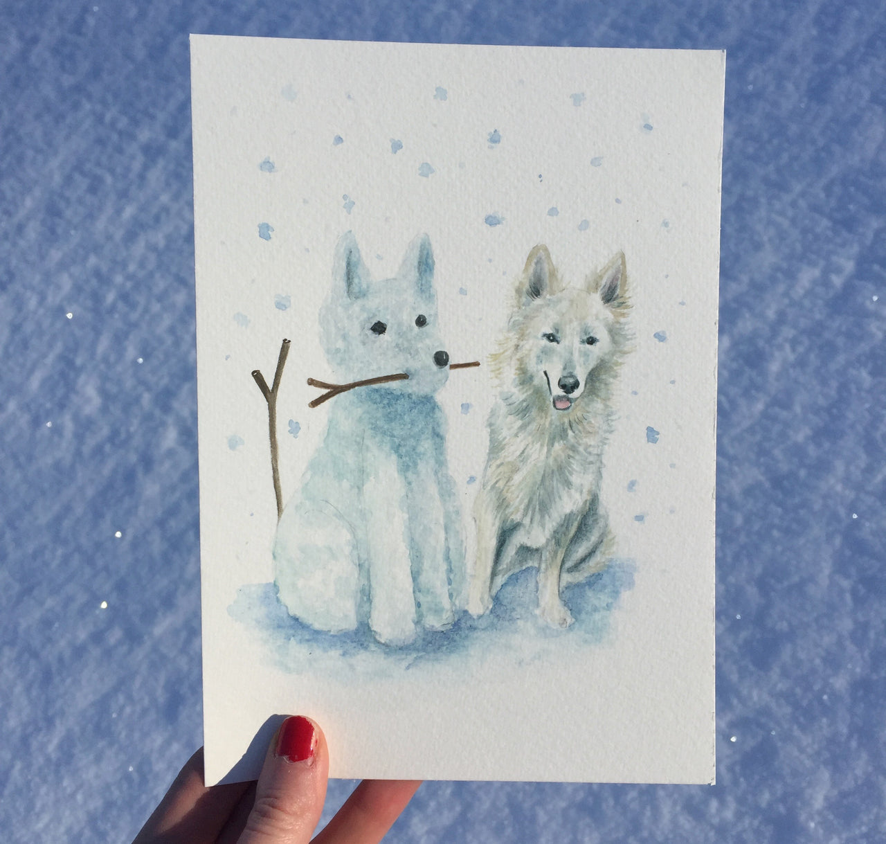 Snow Dog - Dog Pet Illustration