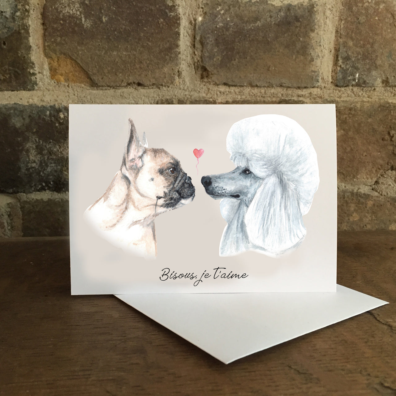 The French Kiss Card - Greeting card for loved one
