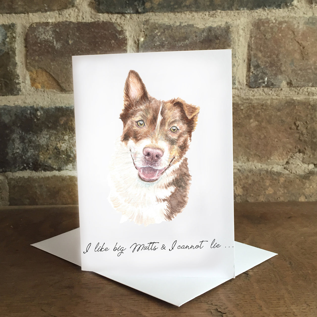 I like big mutts - Greeting card