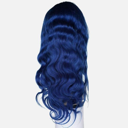 Sapphire Blue Brazilian Body Wave Front Lace Wig-Wigs-Daze Hair Extensions