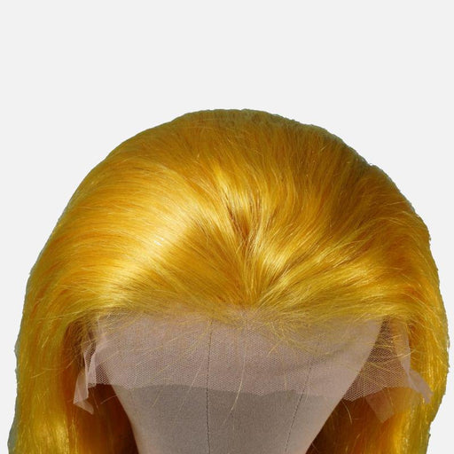 Vibrant Yellow Brazilian Body Wave Front Lace Wig-Wigs-Daze Hair Extensions