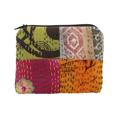 Global Girlfriend Coin Purse: Heirloom Sari Silk-ESSE Purse Museum & Store