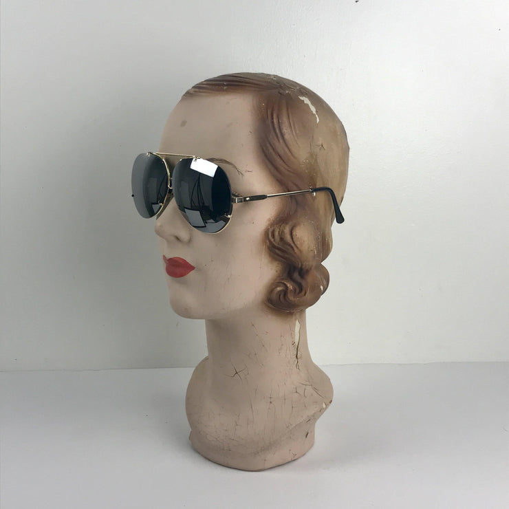 Metallic Framed Sunglasses-ESSE Purse Museum & Store
