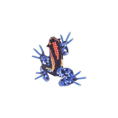 Trovelore Brooch: Blue Poison Dart Frog-ESSE Purse Museum & Store
