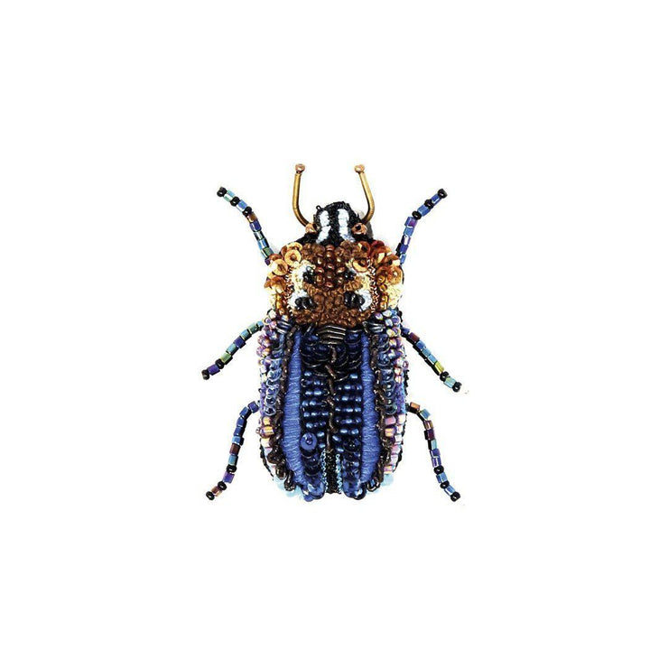 Trovelore Brooch: Blue Stag Beetle-ESSE Purse Museum & Store