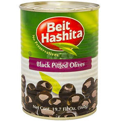 Beit Hashita Black Pitted Olives.