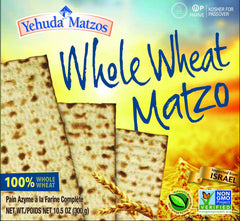 Yehuda Matzos Whole Wheat (Kosher for Passover) 10.5 Ounces.
