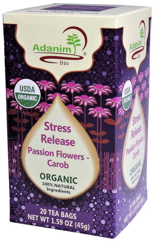 Adanim - Organic Passion Flowers & Carob Tea (Stress Release)