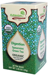 Adanim - Organic Green Tea, Spearmint (Digestion)