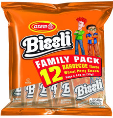 Osem - Bissli Family pack, Barbecue Flavor Snack, 12 x 1.23 Ounce Packages - MakoletOnline