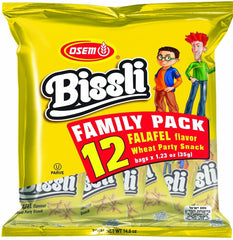Osem - Bissli Family pack, Falafel Flavor Snack, 12 x 1.23 Ounce Packages - MakoletOnline