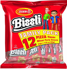 Osem - Bissli Family pack, Pizza Flavor Snack, 12 x 1.23 Ounce Packages - MakoletOnline