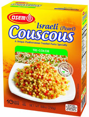 Osem - Israel (Pearl) Couscous Tri-color, 8.8-Ounce Boxes - MakoletOnline