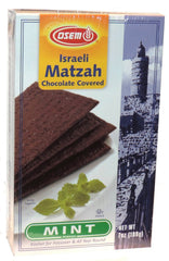Osem - Israeli Matzah Chocolate Covered, Mint Flavor. - MakoletOnline