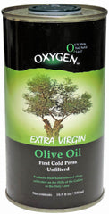 Oxygen - Extra Virgin Olive Oil, 500ml Tin.