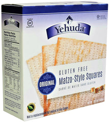 Yehuda - Gluten Free Matzo-Style Squares, Original (Kosher for Passover) 10.5 Ounces.