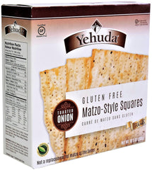 Yehuda - Gluten Free Matzo-Style Squares, Toasted Onion (Kosher for Passover) 10.5 Ounces.