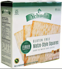 Yehuda - Gluten Free Matzo-Style Squares, Fiber Enriched (Kosher for Passover) 10.5 Ounces.