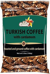 Bulk Buy, Elite - Turkish Coffee w/ Cardamom Bag, 3.5-ounces, 50 bags