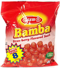 Osem - Bamba Snacks, Strawberry Flavored Snack, Family pack.