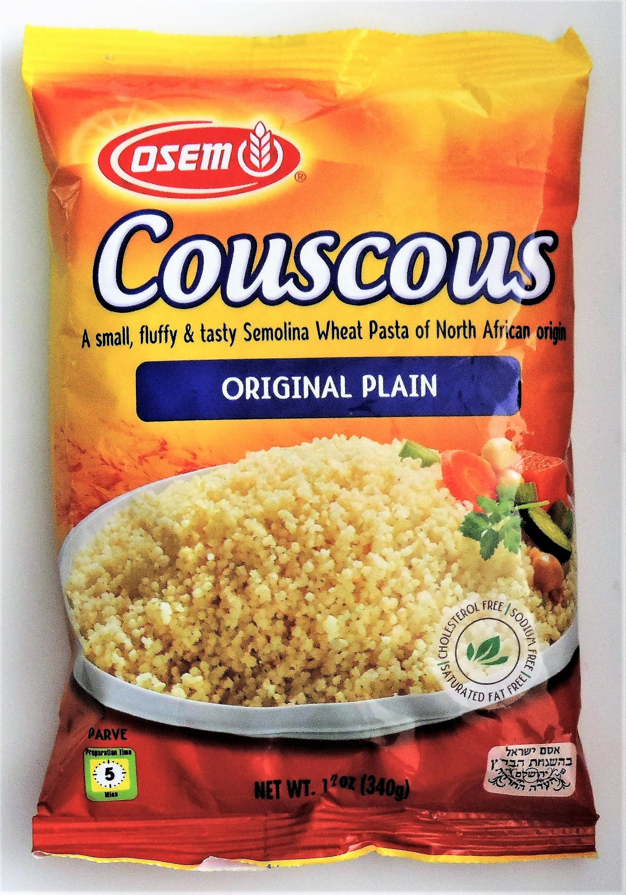 Couscous Plain Osem couscous original plain 12 ounce bag sisterspd