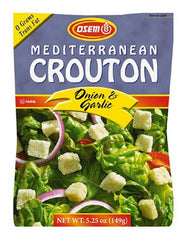 Osem Mediterranean Onion & Garlic Salad Croutons, 5.25-Ounce Package - MakoletOnline