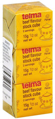 Telma - Beef Flavour Stock Cube, 3 cubes of 0.5 Ounce. - MakoletOnline
