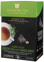 Wissotzky, Signature Collection - Timeless Green Tea with Nana Mint. - MakoletOnline